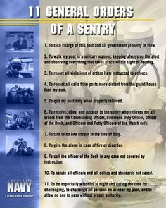What are army general orders?