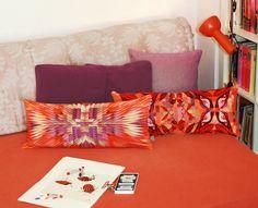 coussins velours Arum et Boom design Claudine VerdoT pour Bontemps http://www.bontemps-textile.com