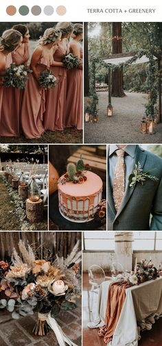 Terracotta and green chic forest fall wedding color ideas wedding colors Top 14 Fall Wedding Color Combos and Trends for 2020 Forest Wedding, Rustic Wedding, Our Wedding, Dream Wedding, Wedding Wishes, Trendy Wedding, Wedding Themes, Wedding Styles, Wedding Decorations