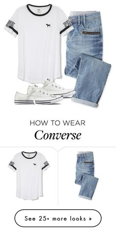 """Dentist appointment"" by melw44 on Polyvore featuring Wrap, Victoria's Secret PINK and Converse"
