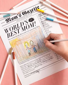 Free printable newspaper that's great to give anytime.
