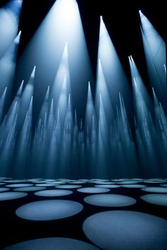 "Sou Fujimoto has used spotlights, mirrors and specially composed sounds to create his ""shifting forest of light"" that responds to visitors' movements for fashion brand COS"