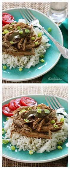 Slow Cooker Filipino Adobo Pulled Pork from Skinnytaste sounds wonderful for an easy dinner! Just serve over cauliflower rice if you'd like a low-carb meal. [Featured on Slow Cooker or Pressure Cooker at SlowCookerFromScratch.com]