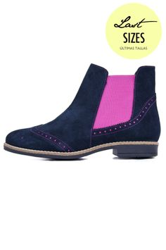 #vilagallo #bicolor #navy #blue #pink #fluorescent #fluor #botin #boot #booty #winter #autumn #women #fashion