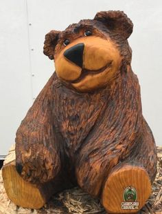 Chainsaw Carving by Paul - Bears #Chainsaw