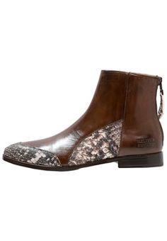JESSY 12 - Korte laarzen - brown/dark brown