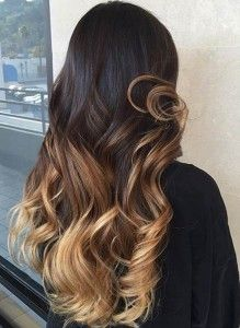 Caramel Blonde Balayage Highlights for Dark Hair