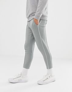Browse online for the newest Only & Sons slim track pant with side stripe and cropped ankle styles. Shop easier with ASOS' multiple payments and return options (Ts&Cs apply). Grey Joggers, Striped Polo Shirt, Scotch, Activewear, Sons, Track, Ankle, Mens Fashion, Formal
