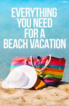 Beach bag necessities. Vacation Packing Checklist, Vacation Destinations, Vacation Trips, Vacation Ideas, Beach Tips, Beach Hacks, Florida Travel, Mexico Travel, Surf