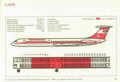Interflug Ilyushin IL62 seat map