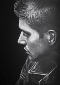 nine-mue: Dean Winchester - light against dark finally picked up my pencils and drew this beautiful man on black paper. I'm so excited for season 11 Dean Winchester by TomsGG Castiel, Supernatural Drawings, Supernatural Fan Art, Mark Sheppard, Jared Padalecki, Sam Winchester, Misha Collins, Jensen Ackles, Black Paper Drawing