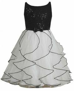Ooh La La Couture Tween Girls Black and White Audrey Dress $87.99 ...