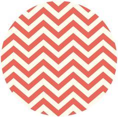 Jay-Cyn Designs for Birch Organic Fabrics, Elk Grove KNIT, Skinny Chev Coral