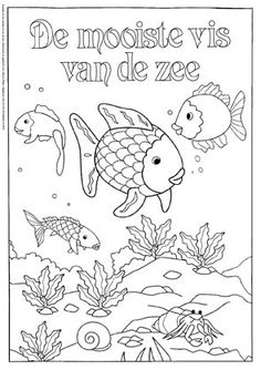 Fish swimming colouring page Fish Patterns, Print Patterns, Colorful Drawings, Easy Drawings, The Rainbow Fish, Mermaid Quilt, Carnival Of The Animals, Ocean Crafts, Summer Crafts For Kids