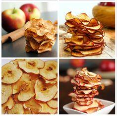 CHIPS DE MAÇÃ//  2 unidades de maçã Fuji-- 1 colher (sopa), rasa, de canela em pó- Papel manteiga-