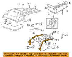 CHRYSLER OEM 02-06 Sebring Convertible/soft Top-Side Rail Left 4864739AB