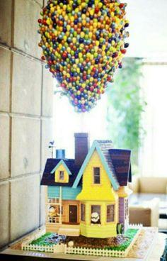 Gâteau décoré en maison de là haut