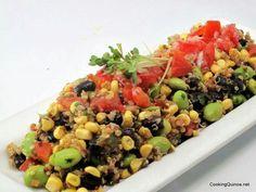 Corn black bean quinoa salad