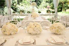 White floral wedding decor