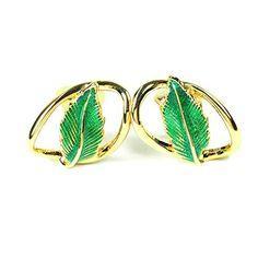 streitstones Blatt Metall-Ohrklips vergoldet und emailliert bis zu 50 % Rabatt streitstones http://www.amazon.de/dp/B00VGTGC38/ref=cm_sw_r_pi_dp_M.9gvb1TPP246