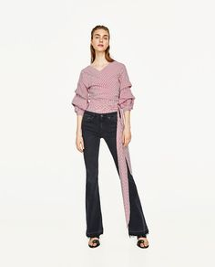 ZARA - WOMAN - PREMIUM COLLECTION FLARED SKINNY FIT JEANS