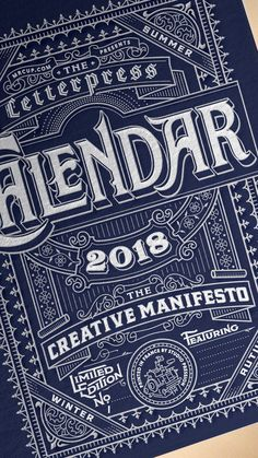 2018 Mr Cup Letterpress Calendar by Mr Cup — Kickstarter