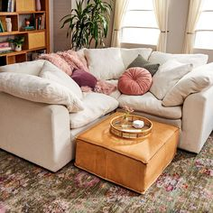 We've been loving all the unique ways to configure your space with modular furniture! Our current favorite is made up of 3 Bryant Corner… Modular Furniture, Modular Sofa, Custom Furniture, Sunroom Furniture, Furniture Ideas, Comfy Sofa, Corner Sectional, Living Room Sets, Family Room