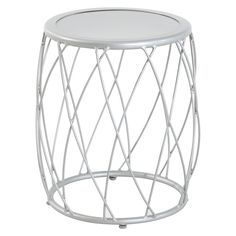 SPRAY GOLD  This Metal Accent Patio Table from Threshold is just the patio table you've been looking for. Featuring a wide and carefree metal lattice with a rust-resistant, powder-coated finish, this patio table would be an ideal addition to any outdoor space. With a steel frame, this sturdy table is perfect for everyday use. To maintain its beauty, wipe clean with a damp cloth.