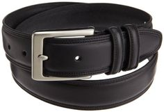 Dockers Mens 35 Mm Leather Feather Edge Creased and Domed Belt $19.50