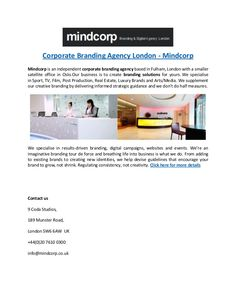 Mindcorp is an independent digital media agency based in Fulham, London with a smaller satellite office in Oslo.From adding to existing brands to creating new … Branding Agency, Corporate Branding, Luxury Branding, Fulham, Consistency, Digital Media, Oslo, Creativity, London
