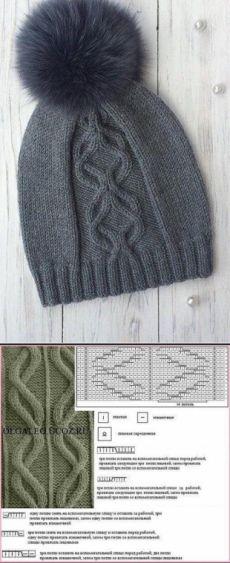 Cap from arana spokes Beanie Knitting Patterns Free, Knitting Paterns, Baby Hats Knitting, Knitting Charts, Knitting Stitches, Knitting Designs, Knit Patterns, Knitted Hats, Knitting Scarves