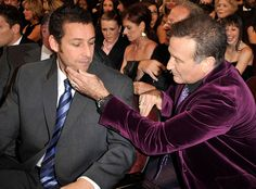 The funny guys (Adam Sandler and Robin Williams) shared a moment at the 2009 People's Choice Awards in Los Angeles.