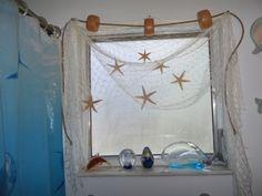 15 FT x 8 FT  Nautical fish Fishing Net Window Curtains, Valance, Bath Decor