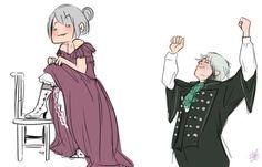 Lysandre se realizando com o streap teas (não sei como se escreve)pro Lysandre (só que não.Ela poderia fazer muito mais!)