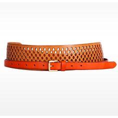 Linea Pelle Dylan Perforated Colorblock Sash Belt ($132) ❤ liked on Polyvore featuring accessories, belts, 100 leather belt, embellished waist belt, waist sash belt, waist belt and genuine leather belt