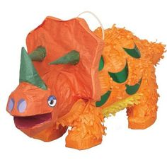 Triceratops Dinosaur Party Pinata, Orange, 20 x Size: 20 inch x 9 inch Beach Party Games, Tween Party Games, Bridal Party Games, Engagement Party Games, Graduation Party Games, Kitty Party Games, Cat Party, Drunk Party, Sleepover Party