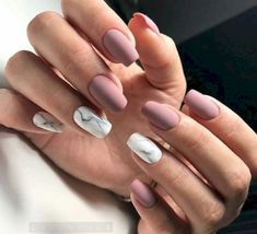 """If you're unfamiliar with nail trends and you hear the words """"coffin nails,"""" what comes to mind? It's not nails with coffins drawn on them. It's long nails with a square tip, and the look has. Cute Acrylic Nails, Cute Nails, My Nails, Cool Easy Nails, Squoval Acrylic Nails, Simple Nails, Nail Manicure, Manicures, Nail Polish"""
