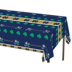 Univ of Notre Dame 54 x 108 Plastic Tablecover/Case of 12