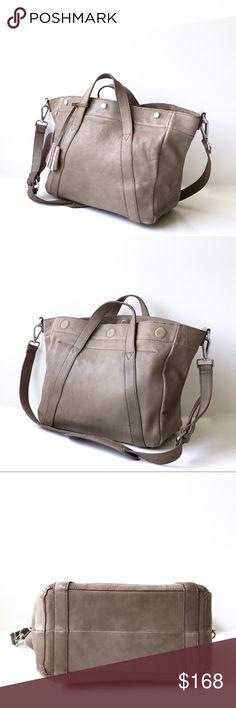 """M a d e w e l l • Stockholm Satchel in Mink A gorgeous, soft leather satchel, with textural variations. It's a perfect size to handle all of your daily essentials, with a removal duffel strap. The color is a perfect neutral to your outfit!   Details: 17"""" W x 10 7/10"""" H x 5 1/2"""" D handle drop 4"""" suede, unlined interior  in excellent condition very light overall surface wear leather has some patina Madewell Bags Satchels"""