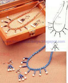 Boncuk Takı Tasarımı-Takı Yapımı ve Satışı: Kum boncuktan yapabileceğiniz kolyelerin Şemaları Arrow Necklace, Jewelry, Jewlery, Bijoux, Jewerly, Jewelery, Jewels, Accessories