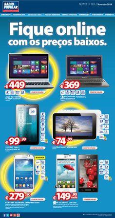 Newsletter - Fique online com os preços baixos.  http://www.radiopopular.pt/newsletter/2014/11/