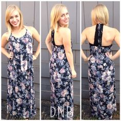 Is it really November? These warm days make it hard to believe that it is Fall. Our newest Floral Maxi Dress is the perfect option for these warm fall days. It is great for romping around with friends, running errands or just enjoying the weekend. The deep colors and lace back detail make it a Fall Must Have!!   Floral Maxi Dress $63.00  Size: S, M, L  Nude Wrap Bracelet $36.00 (also available in brown)