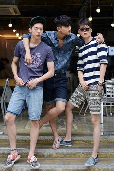 Korean menswear models Nam Ju Hyuk, Park Hyeong Sub & Jang Ki Yong. -Lily www.thepeoplepurple.com