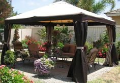 Outdoor Gazebo Lighting Enchanting Outdoor Gazebo  For The Home  Pinterest  Outdoor Gazebos Decorating Design