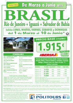 BRASIL Río de Janeiro+Iguazú+Salvador de Bahía, sal. 9/04 al 10/06 dsd España (11d/9n) p.f. 2.420€ - http://zocotours.com/brasil-rio-de-janeiroiguazusalvador-de-bahia-sal-904-al-1006-dsd-espana-11d9n-p-f-2-420e-2/