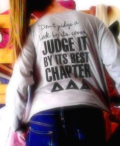 "Chapter of the year t-shirt. ""Don't judge a book by its cover, judge it by its best chapter."""