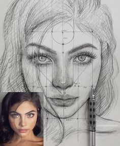 "Find the free Face Proportions Guidance in my board ""How to Draw. How I Draw"". Cool Art Drawings, Pencil Art Drawings, Realistic Drawings, Art Drawings Sketches, Cool Artwork, Drawing Art, Drawing Tips, Charcoal Drawings, Face Drawings"