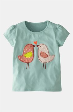 Mini Boden 'Patchwork' Appliqué Tee (Toddler, Little Girls & Big Girls)