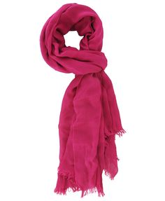 I need a hot pink scarf! Solid Fringe Trim Scarf | FOREVER21 - 1000012975