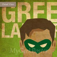 Superhéroes 8 x 10 carteles Set de 6 carteles por MyGeekPosters